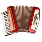 punainen vanha harmonikka